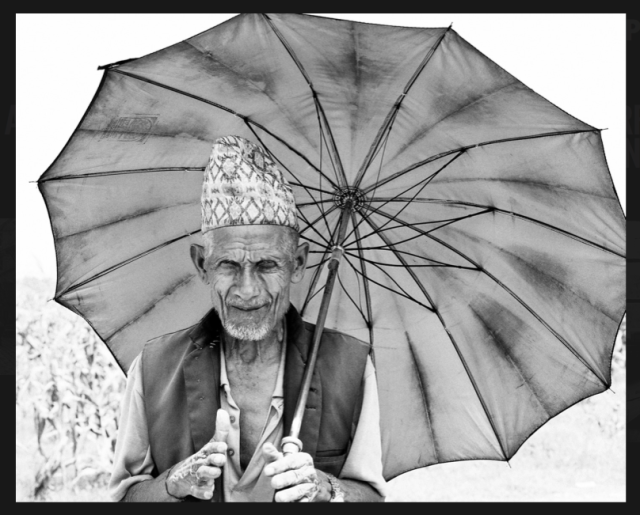 nepal - old man by Patjane