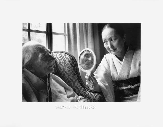 Balthus and Setsuko by Duane Michals