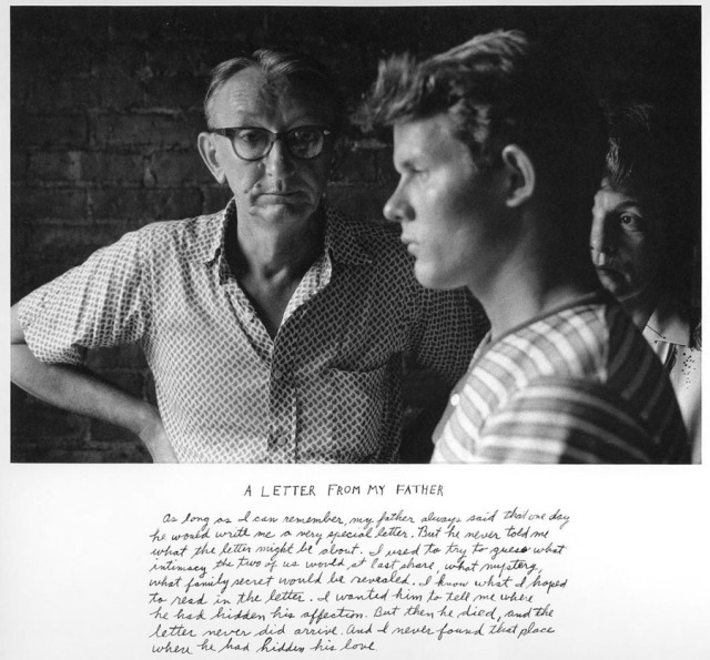 Duane Michals Letter to My Father 1975