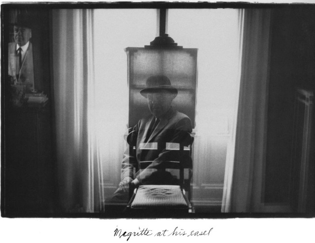 Magritte at his easel by Duane Michals