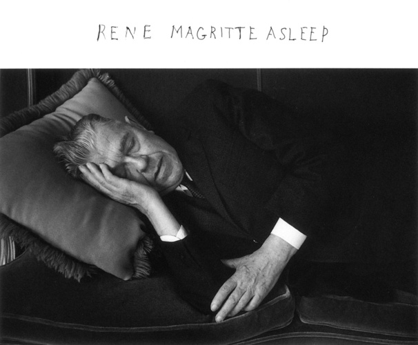 DUANE MICHALSRene Magritte Asleep, 1965