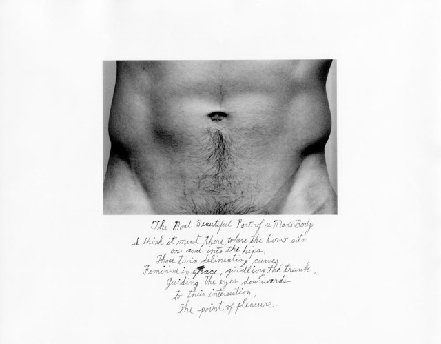 The most beautiful part of a man´s body by Duane Michals