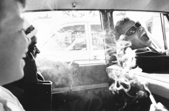 Boys Smoking in Car, Westchester Reform School, 1963