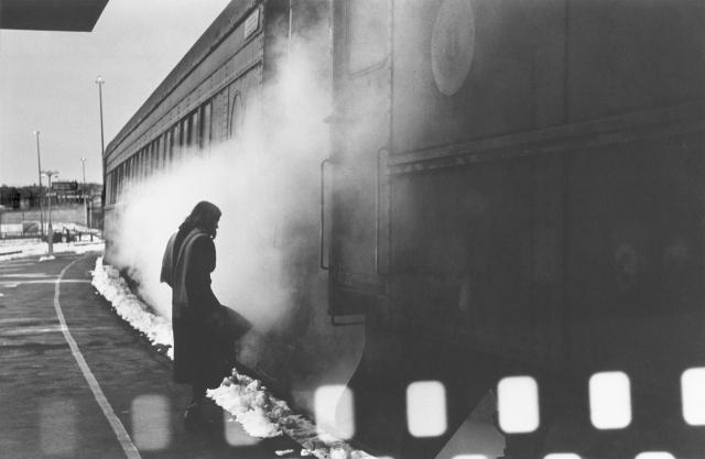 Woman and Train, Providence, RI - 1976