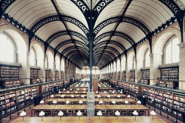 Bibliotheque Ste Genevieve by Franck Bohbot