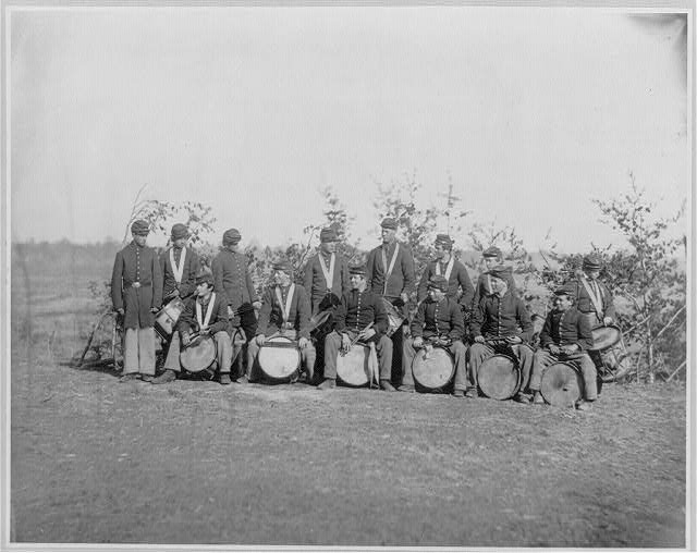 Drum Corps of the 61st New York Infantry by O'Sullivan